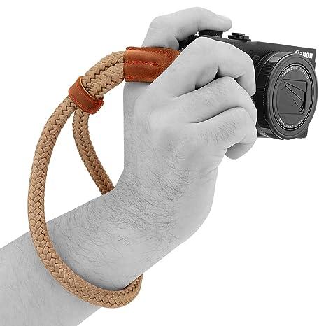 MegaGear - Correa de Mano para cámara (algodón, tamaño pequeño ...