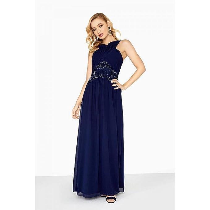 Little Mistress - Vestido Largo con Pedrería en la Cintura Modelo Zara para Mujer (36