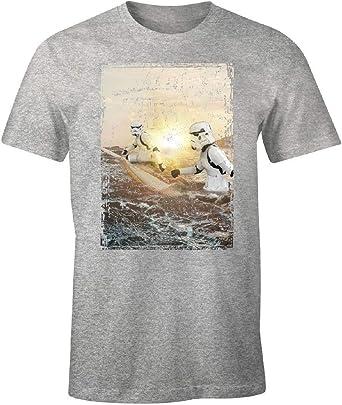 cotton division Original Stormtrooper Camiseta Hombre Sunrise Surfers Gris: Amazon.es: Ropa y accesorios