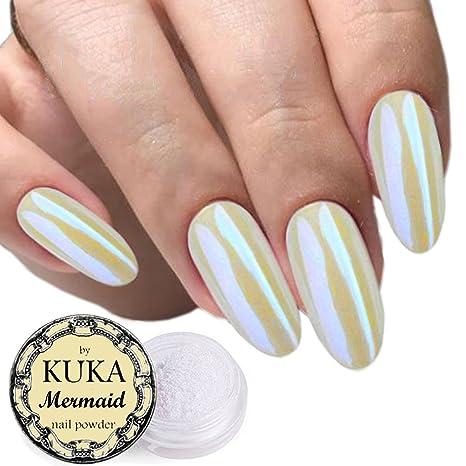Polvere per nail art, accessori per le unghie, effetto perlato, conchiglia,  camaleonte