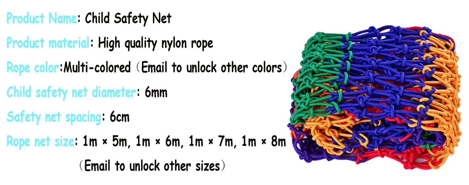 WBHGNDHH 3x20ft Multi-Colored Pet Parrot Climbing Nylon Rope Net for Kids Indoor and Outdoor Playing Party Wall Hanging DecorHeavy-Duty Woven Bird Netting Portable Net ( Size : 3×16ft ) by WBHGNDHH