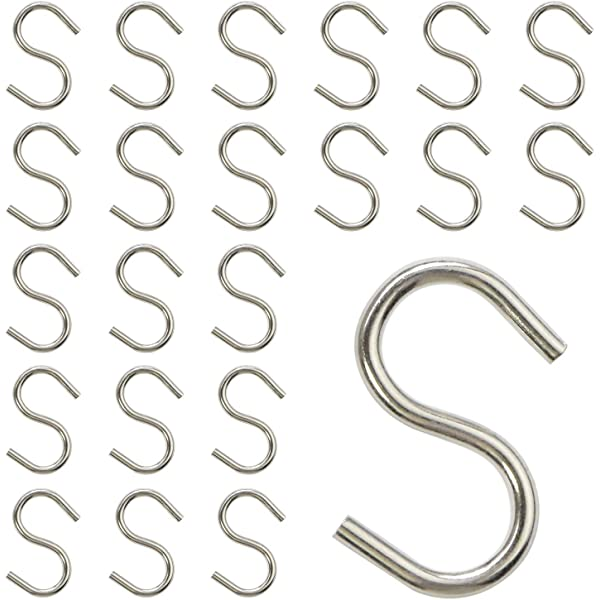 National Hardware N197-202 V2078 Open S Hook in Stainless Steel