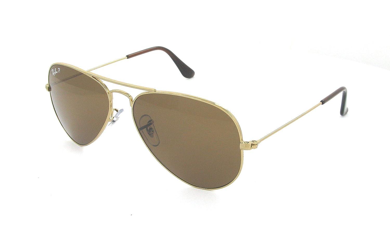 e50e7ba88ff Amazon.com  Ray Ban Aviator 3025 001 57 Rb3025 Gold Crystal Brown Polarized  Rb 3025 58mm  Shoes