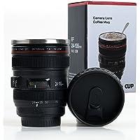 Shoptoshop Super Classic Camera Lens Shaped Coffee Mug With Lid, 400 Ml, Black (Mug_001)