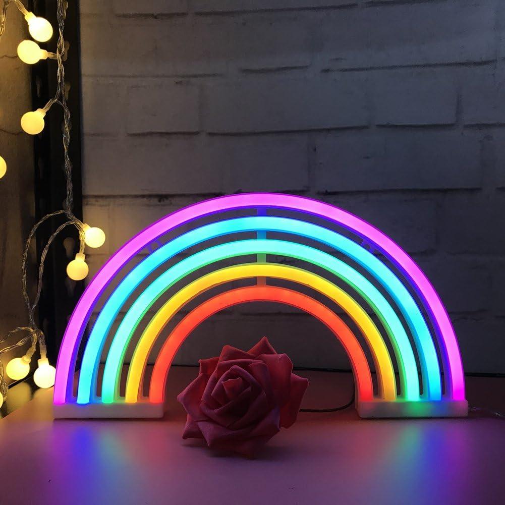 QiaoFei - Luz de neón con Forma de Flamenco LED, para Decorar Fiestas, cumpleaños, habitación de los niños, Sala de Estar, decoración de Fiesta de Boda, Color Rosa
