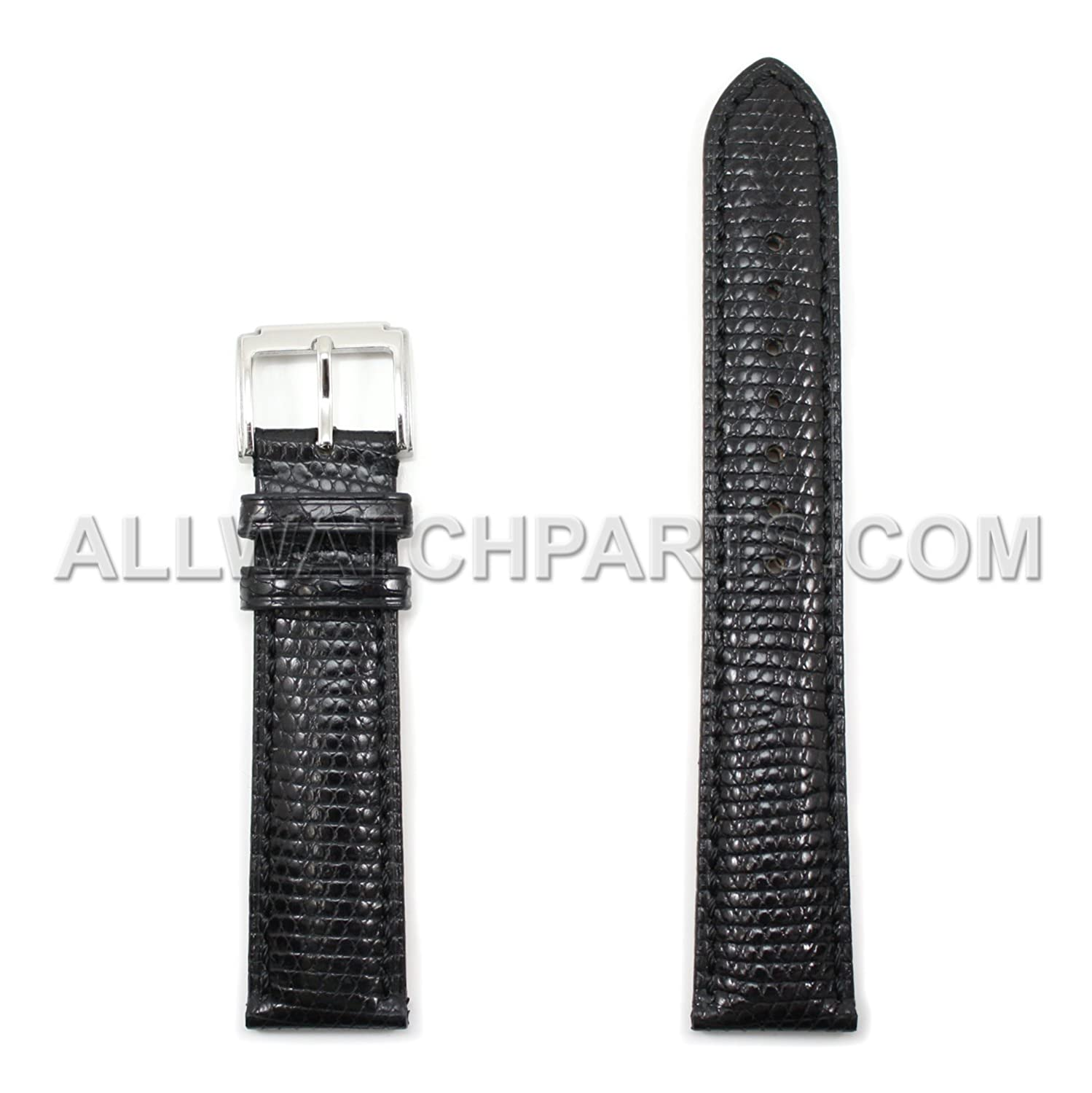17 mm Black Genuine Lizard Leather Watch Band  B0753QZXFZ