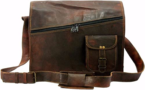 Aditya Art Craft Mens Satchel Vintage Leather Messenger Bag Brown Handmade Shoulder Best Laptop Cross Body Best Sling Bag