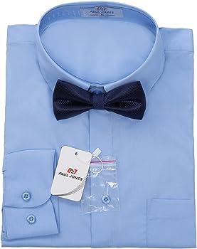Hombre Camisa Simple con Color Sólido Entallada Ocasional Negocio ...