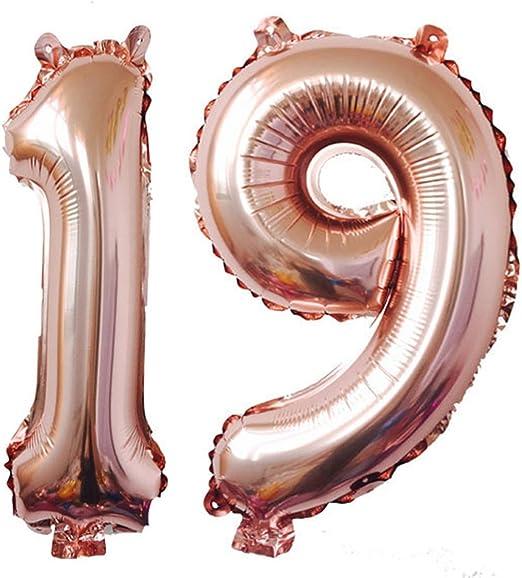 Amazon.com: 40 inch oro rosa Foil 19 helio Jumbo número ...