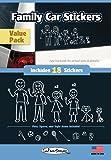 Familia Cool Car Stickers - compacto Value Pack - contiene 18 pegatinas