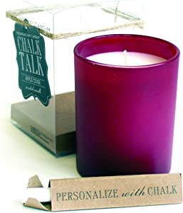 Chesapeake Bay Candle Chalk Talk Red Glass Scented Candle, Apple Cider