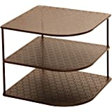 Seville Classics 3-Tier Corner Shelf Counter & Cabinet Organizer, Bronze