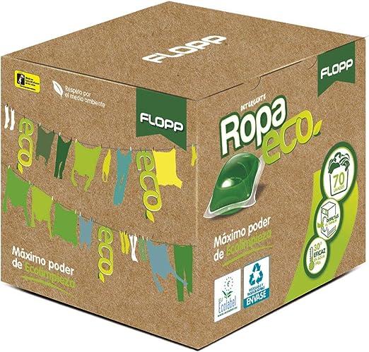 Flopp - Detergente Ecológico en Cápsulas para la Ropa, Estuche 70 ...
