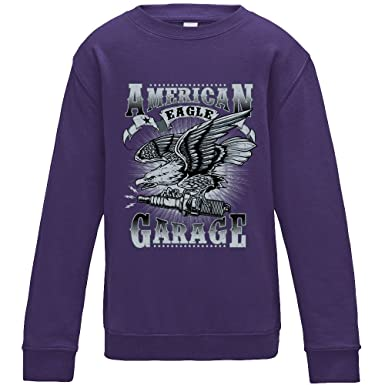 American Eagle Garage Sweater - Purple - Medium: Amazon.es: Ropa y ...