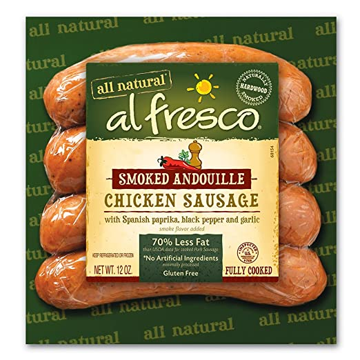 al fresco Smoked Andouille Fully Cooked Chicken Sausage 12 oz