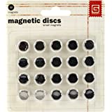 Basic Grey 0.375-inch Magnetic Discs, Pack of 20, Silver