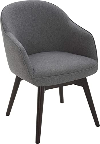 Amazon Brand Rivet Vern Contemporary Round Back Swivel Dining Chair