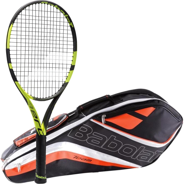 Babolat Pure Aero Junior Raqueta de tenis paquete con un equipo 3 ...