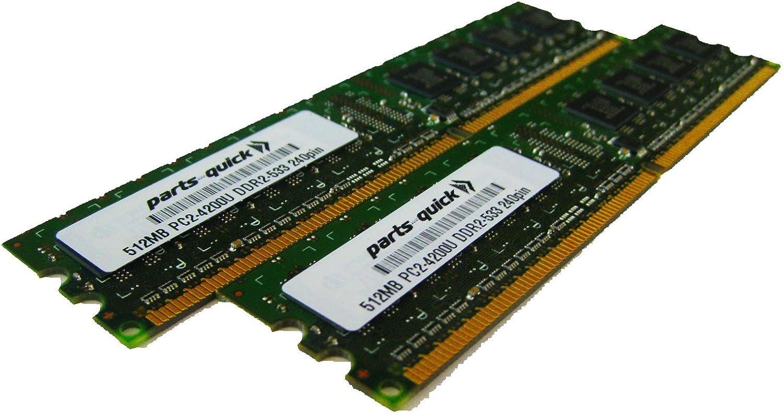 1GB Kit 2 X 512MB DDR2 Desktop Memory for Dell XPS 200 XPS 210 XPS 400 XPS 600 XPS 700 XPS 710 XPS 710 H2C PC2-4200 240 pin 533MHz DIMM RAM