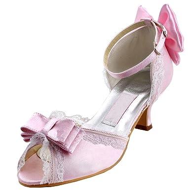 Kevin Fashion Damen Hochzeitsschuhe Pink Rosa Rosa Grosse