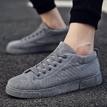 3bf71d89d95fa3 XIAOLIN- Stoffschuhe Jungs Freizeitschuhe Plate Schuhe Herrenschuhe Wilde  Flut Schuhe ( Farbe   Grau