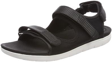 1bbe44b1125a FitFlop Women s Neoflex Back-Strap Sandals Black Mix 5