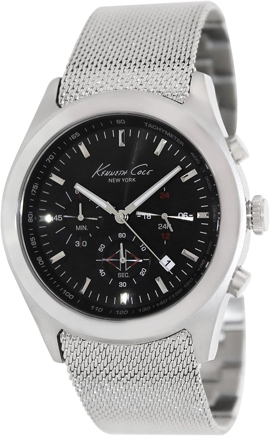 Kenneth Cole New York Men s Quartz Stainless Steel Case Stainless Steel Strap Silver, Model KC9202