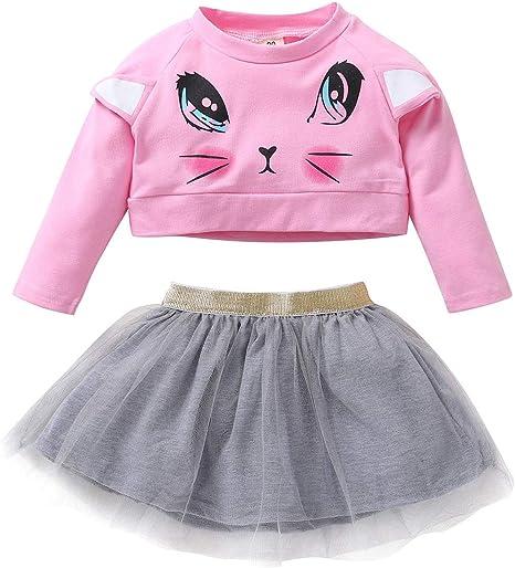 Baby Girl Traje de ropa para niños pequeños Conjunto de niños Top ...