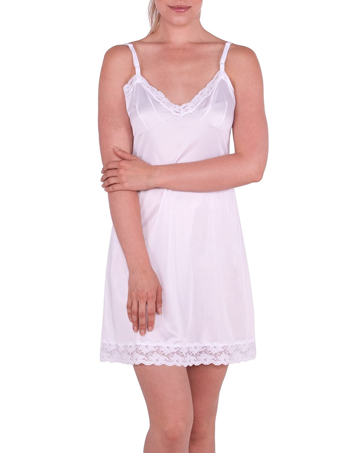 Under Moments Daywear 31 Adjustable Strap Lace Full Slip (52019) UM-52019