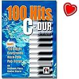 100 Hits in C-Dur Band 5 - 100 Oldies, Evegreens, Rock-Folck-Pop-Songs für Keyboard, Piano, Klavier, Gitarre - Songbook mit bunter herzförmiger Notenklammer