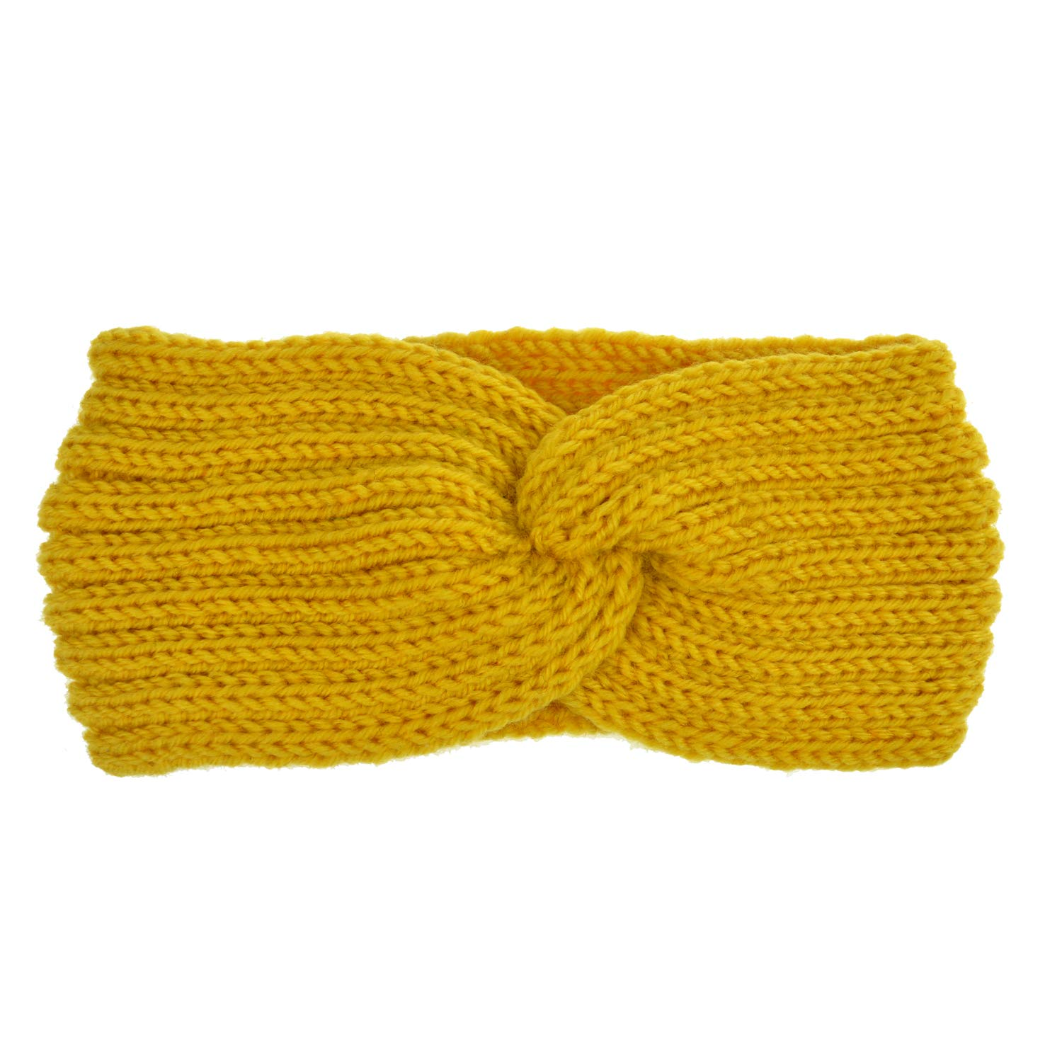 Cashmere Solid Color Elastic Crochet Knitted Cross Headband Headwrap Hairband