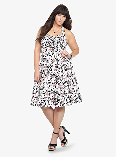 Retro Chic By Torrid - Playing Card Print Halter Dress at ...