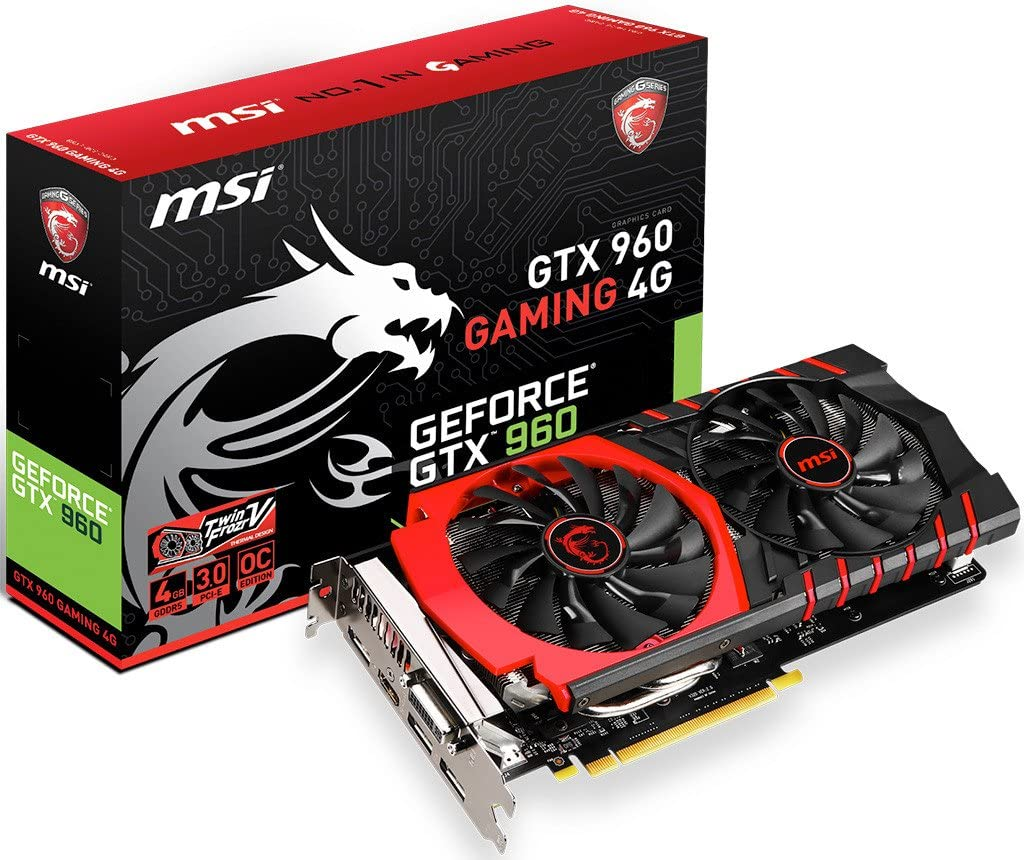 MSI GTX 960 GAMING MSI NVIDIA GeForce GTX 960 GAMING 2GB GDDR5 DVI/HDMI/3DisplayPor