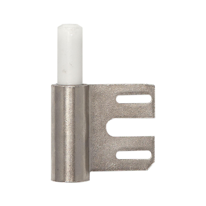 Door Hinge Frame Part V 8100WF for Gefälzte Door Hinge Diameter 15mm, nickel-plated steel, Pack of 1 Simonswerk