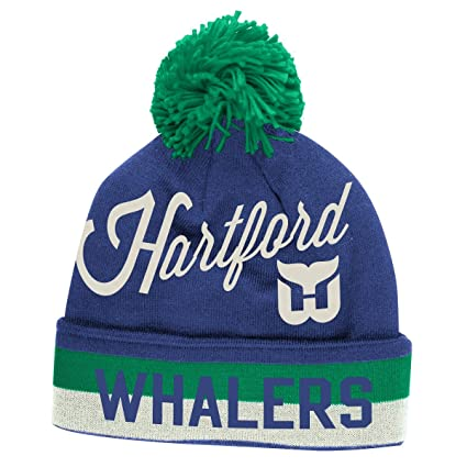 139e58bcb20 Image Unavailable. Image not available for. Color  Hartford Whalers CCM  Throwback NHL Cuffed Knit Hat w  Pom