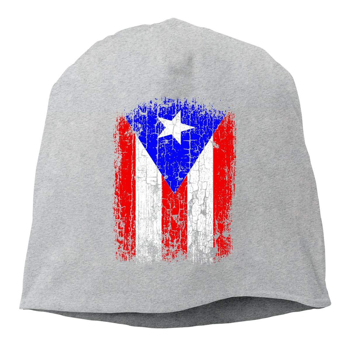 Vintage Puerto Rico Flag Unisex Knitted Hat Beanie Hat Warm Hats Skull Cap Beanie Hat