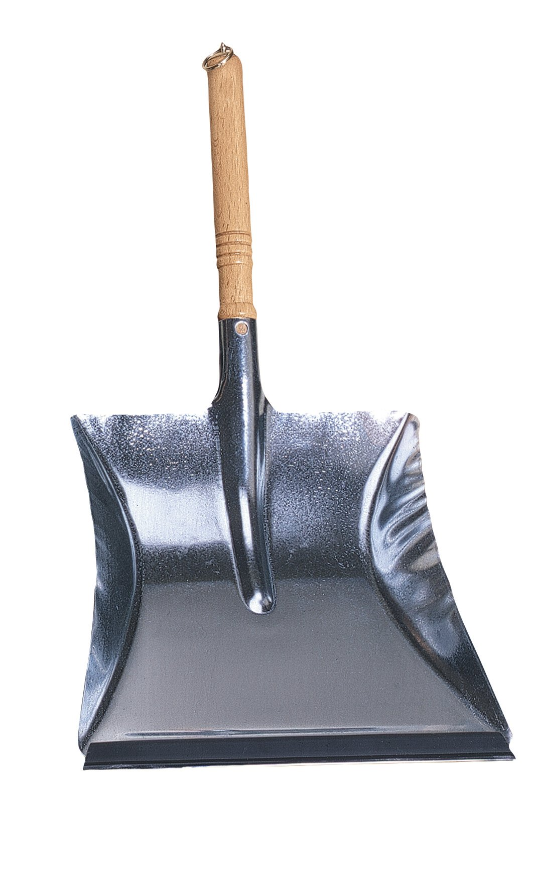 Redecker Dust Pan with Oiled Wooden Handle, 17-3/4-Inches, Zinc-Coated Steel