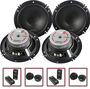"2 Pair Cerwin Vega 2-Way 6.5"" Component Speaker System Tweeter Crossover XED650C"