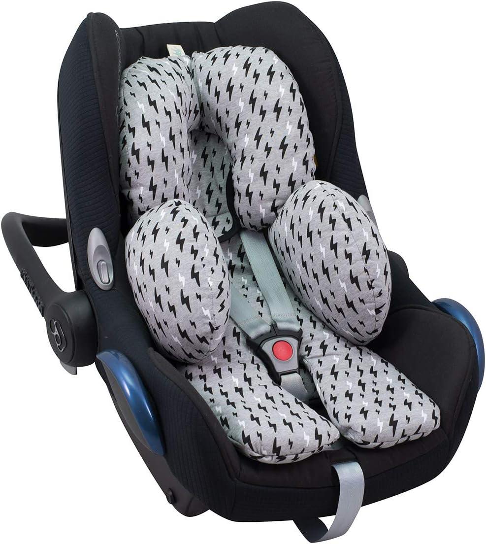 0-6 meses // Protector de cuerpo para coche Stars Rose Sweet Baby ** SOFTY DESIGN ** Reductor para silla de beb/é Maxi Cosi//R/ömer etc