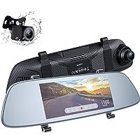 Deals on AUKEY Mirror Dash Cam Dual 6.8 inches 1080P Car Camera