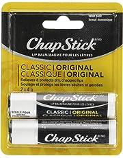 ChapStick Classic Original (2 Pack) Lip Balm, Skin Protectant, 4g x2