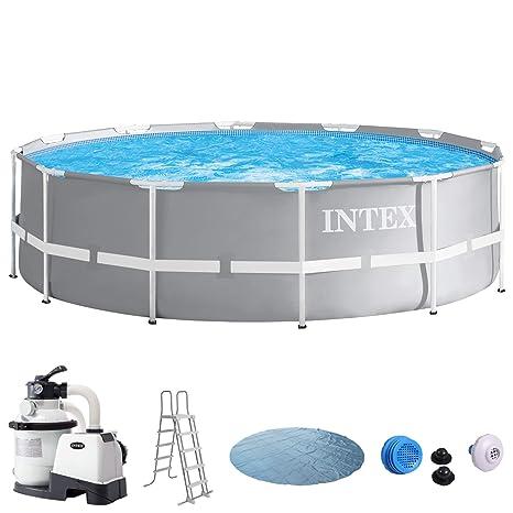 Intex Piscina 366 x 91 con filtro de arena, seguridad Escalera, Solar Lona,
