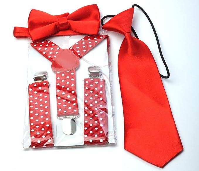 offre véritable profiter de prix pas cher Générique Set Garçon Bretelles + Cravate + Noeud papillon ...