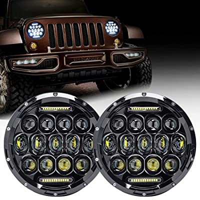 Firebug Jeep LED Headlight 75W 9000 Lumens Hi/Lo Beam, Jeep Wrangler Headlights DRL, Jeep TJ Led Headlights, Jeep JK Led Headlights, Jeep Wrangler JK TJ LJ 97-16: Automotive