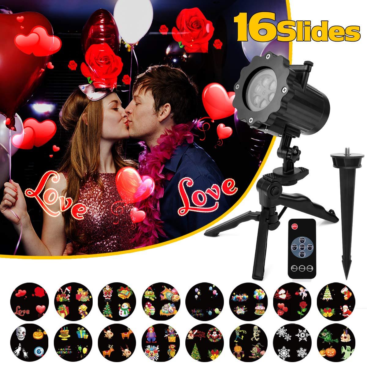 218ccf7725d Qomolo Luz LED Para Proyector con 16 Motivos