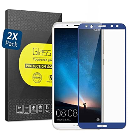 GOGME Cristal Templado para Huawei Mate 10 Lite, 9H Rounded Edge ...