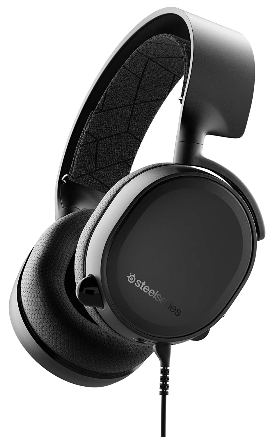 SteelSeries Arctis 3 - Auriculares de Juego multiplataforma - para PC, Playstation 4, Xbox One, Nintendo Switch, RV, Android y iOS - Negro [Edición 2019]