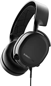 SteelSeries Arctis 3 - Auriculares de Juego Multiplataforma para PC, Playstation 4, Xbox One, Nintendo Switch, RV, Android y iOS, Negro