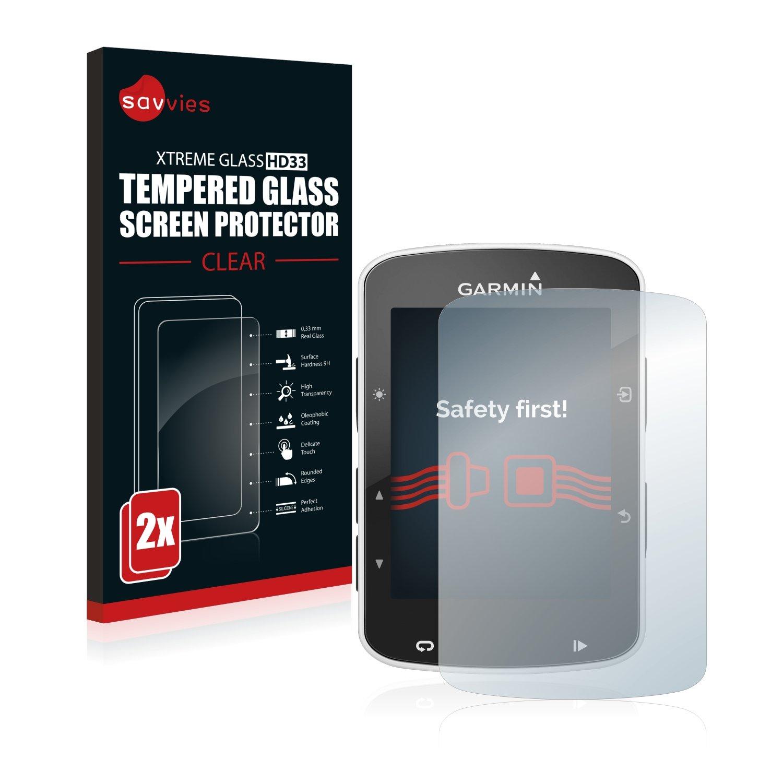 savvies Cristal Templado Compatible con Garmin Edge 520/820 (2 ...