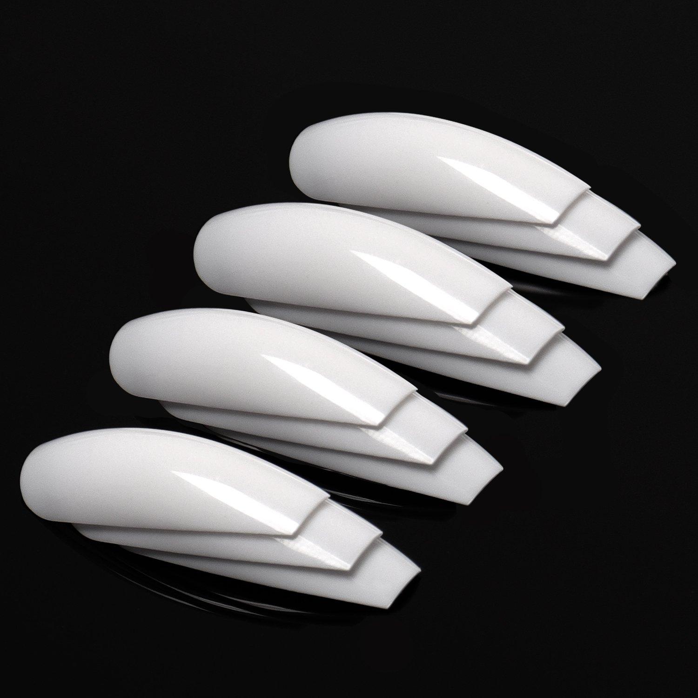 Amazon.com: ECBASKET Coffin Nails Acylic Nails Long Ballerina Nail ...
